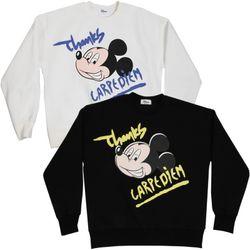 디즈니 미키 땡스 여성맨투맨 박스티셔츠