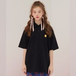 2F  LOW LOGO NECK TOP [black]