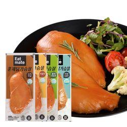 잇메이트 훈제 닭가슴살 혼합 100gX30팩