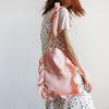 Ribbon satin shoulder bag (pink)