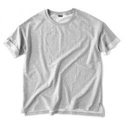 [레이쿠] reiku overfit roll-up short sleeve gray