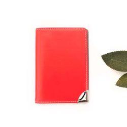 레드 투톤 카드지갑