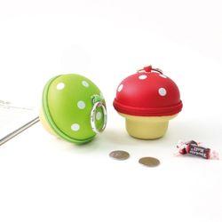 슈퍼8비트 귀요미버섯 동전지갑 입체파우치