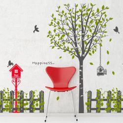 pk100-행복한나무와우체통그래픽스티커
