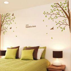 ig114-한가로운숲속의새들과나무그래픽스티커