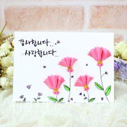 분홍카네이션카드(5인세트)-글씨추가