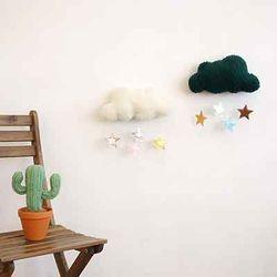 패브릭 DIY- 몽실 구름 별 모빌