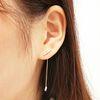 큐빅드롭 로즈골드 귀걸이 (OTE116113QPW)