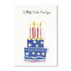 홀마크 생일 축하 카드(큰케이크)-KED2570