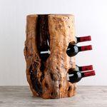 소믈리에 빈티지 통나무 4구 와인렉 1개