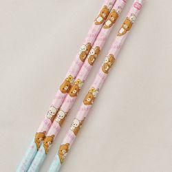 일본 리락쿠마 연필 3P set 캔디체리 2B