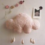 [핸드메이드] 뜨개느낌 구름 모빌 핑크