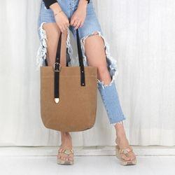Unbalance Eco Bag - Wax Canvas Camel