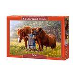 500조각 직소퍼즐 - 꽃밭의 소녀와 작은 말(LD52509)
