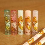 일본 리락쿠마 도트 연필캡 5P세트