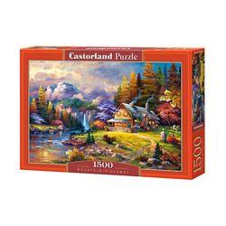 1500조각 미니퍼즐 - 석양 지는 숲속 별장 (LD151462)
