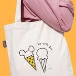 디즈니 포켓 에코백 - 미키 아이스크림 (주문인쇄)