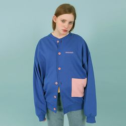 Pocket cardigan-blue