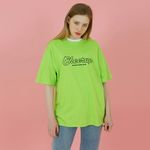Cheer up tshirt-neon green