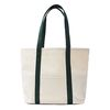 CAPRI CANVAS TOTE BAG (GREEN TRIM)