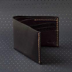No.8 Wallet - Jet top stitch