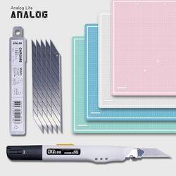 아날로그 셀프힐링 반투명 커팅매트 A2+크롬커터+칼날