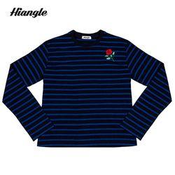 [HIANGLE] 소매트임 단가라 - 블루