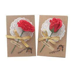 크라프트비누꽃카드4인용(꽃선택)