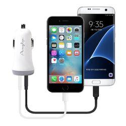 8핀 차량용 충전기 듀얼 2.4  케이블포함  USB