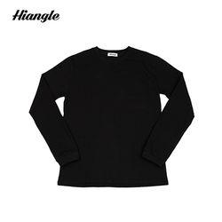 [HIANGLE] 장미 긴팔 티셔츠 - 블랙