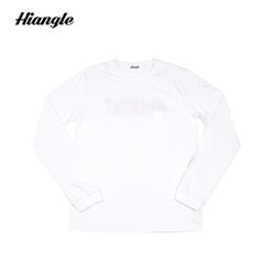 [HIANGLE] 장미 긴팔 티셔츠 - 화이트