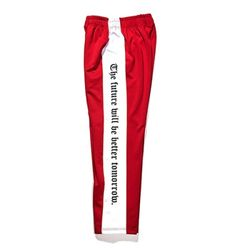 BSRABBIT Modern Line track pants Red