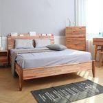 라센 원목 통깔판 퀸 침대(매트별도)
