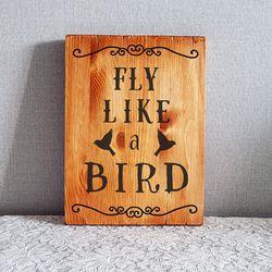 fly like a bird 원목 그림액자 170x230mm