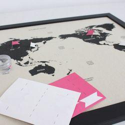 노크) World Mapver Deco Map Ivory
