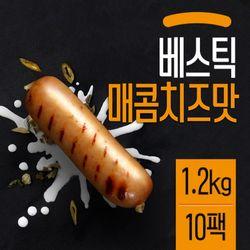 베스틱 닭가슴살 소시지 매콤치즈맛 120gX10팩(1.2kg)