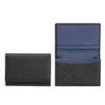 명함지갑(블랙+스틸블루)w35021사피아노소가죽