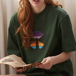 LIGHTHOUSE T-SHIRTS DARK GREEN