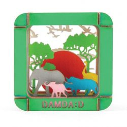 페이퍼 크래프트  쉐도우 박스 사바나의 풍경