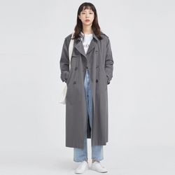 FRESH MORE over trench coat ( CHARCOAL )
