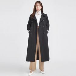 FRESH MORE over trench coat ( BLACK )