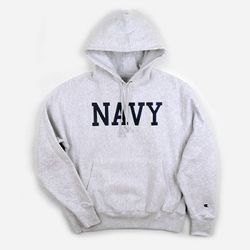 REVERSE WEAVE HOODED PULLOVER NAVY 애쉬컬러