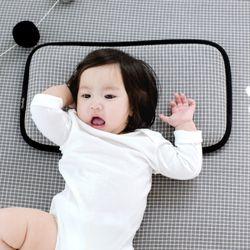 코니테일 코튼 쿨필로우 - 그레이체크 (아기쿨베개)