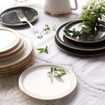 [J TABLE]아덴 골드라인 원형 접시 소 (그레이)