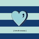 LOVE COMMA BADGE - M