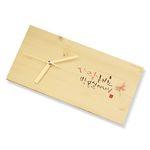 주문제작 캘리 나무메세지 탁상시계 for 어버이날선물