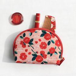 위드앨리스 림 솜솜 메이크업 파우치 Camellia