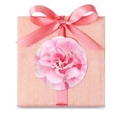 핑크 로즈 꽃송이 라벨 (10개)