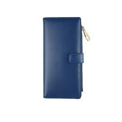 bifold long wallet - Blue