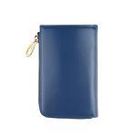 arround zipped wallet - Blue